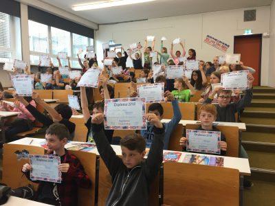 """Glückliche Gewinner aus der """"KGS Waldschule Schwanewede"""""""