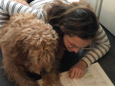 Christian-von-Bomhard-Schule, Uffenheim  Me and my dog doing english vocabulary! :)
