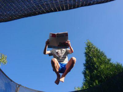Vaihingen/ Enz , Stromberggymnasium The jumping reader
