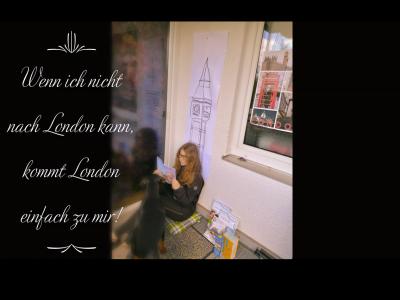 """Köln, Stadtgymnasium Porz.  ,,Wenn ich nicht nach London kann, kommt London einfach zu mir!""""  Wenn man Sehnsucht nach London bekommt, da kommt einem die manch´ eine oder andere kreative Idee! LG Naomi."""