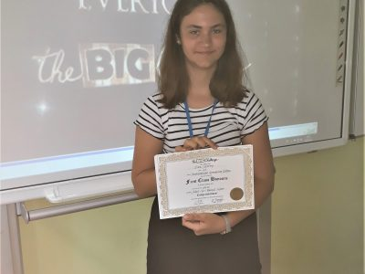 NIEDERSORBISCHES GYMNASIUM COTTBUS Congratulations! Clara S. can be very proud of her first place in level 2.