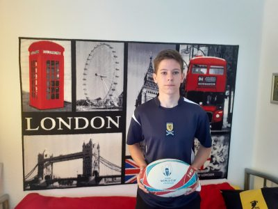 Berlin,  Franz Rühr, Katholisches Theresiengymnasium  This photo shows me with a rugby-ball.I play at the RK03 since 2014.rugby is one of the biggest sports in the world, it comes from the UK.