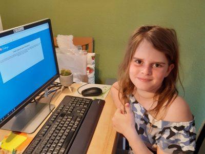"Hannah Reichert von der Grundschule am Berg  ""Geschafft!!!"""