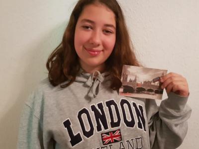 GMS Waldschule Bietigheim-Bissingen  diesen Pullover hat meine Schwester mir aus London mitgebracht