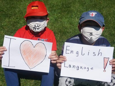 """""""I love english language!"""" from JÜLICH Gymnasium HAUS OVERBACH made by Vincent and Leo"""
