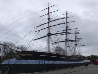 """Dresden, Martin-Andersen-Nexö-Gymnasium, (Willy Kunzmann Klasse 08a)  Hello there, this i a picture of a famous ship called """"Cutty Sark"""". It was built in 1869 and has been used for the transport of tea. Today it´ s a museum ship which stands on a kind of glass house, in Greenwich, London. You can visit it, look around the museum and you can even go on the ship and see how the travelers have once lived there. You can see the kitchen on board, the large steering wheel and also the bedrooms. It´ s really cool there!"""