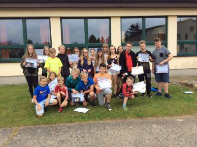 Die Teilnehmer der Regionalen Schule Wesenberg (The Big Challenge 2017)