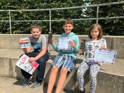 """The winners of class 5 Secondary School """"Am Grünen Berg"""" , Bergen auf Rügen"""