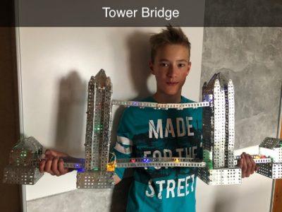 Tangermünde, Diesterweg Gymnasium, meine selbst gebaute Tower Bridge