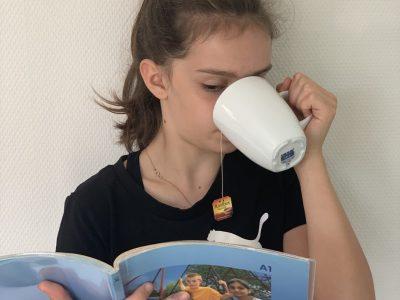 Königstein, St. Angela-Schule  Mmmh, nach der Big Challenge erst mal einen leckeren Tee! :-)