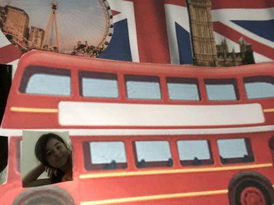 Sindelfingen, Gymnasium in den Pfarrwiesen  Ich wie ich in London mit dem Bus fahre.