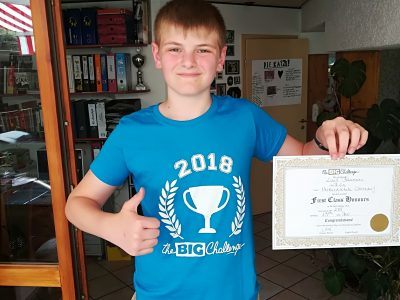 Oberndorf am Neckar Verbundschule Oberndorf  Ich bin Luis, 12 Jahre alt, und wollte mich nochmals für alles bedanken! Ich hatte 288/350 Punkten! LG Luis