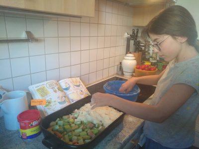 Prien Ludwig-Thoma-Gymnasium rhubarb crumble in May