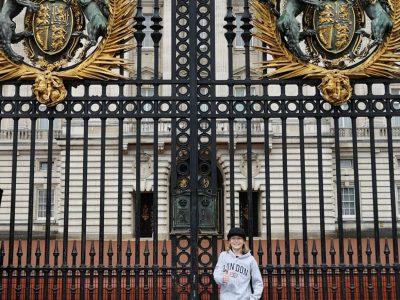 Bad Säckingen - Werner-Kirchhofer-Realschule   Sprachreise nach London - vor dem Buckingham Palace
