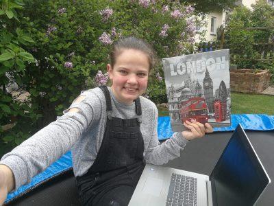 Gieboldehausen KGS Gieboldehausen  Big Challenge - Big easy at home Es hat mir Spaß gemacht im Garten auf dem Trampolin mitzumachen! Johanna