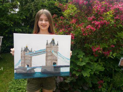 Schyren-Gymnasium Pfaffenhofen  Dieses Bild male ich zur Zeit für ein Schulprojekt und informiere mich dazu viel über die Tower Bridge