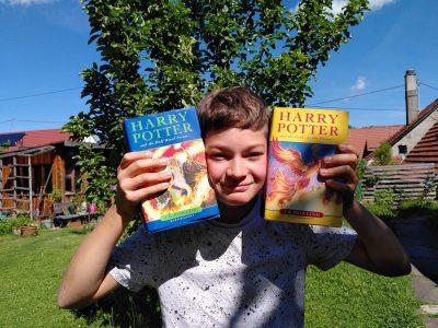Balingen. Gymnasium Balingen. Harry Potter books in English from England.