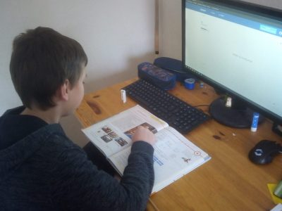 Wilhelmshaven  IGS   Ich beim Englisch lernen