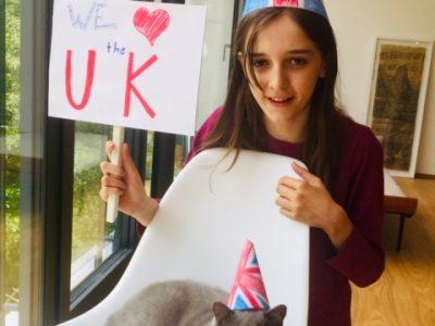 "Ulm, Hans und Sophie Scholl Gymnasium   Me and my ""British Shorthair""cat Moses - big UK lovers!"