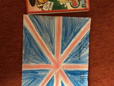 Gymnasium Waldkraiburg  Donald Duck in England und die Englische Flagge