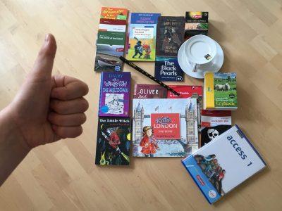 Herrenberg, Schickhardt-Gymnasium, Ich liebe die englischen Bücher samt Sprache - und der Tee ist auch lecker!