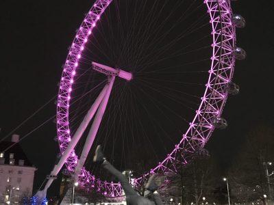 Hans Grüninger-Gymnasium Markgröningen  Im Februar 2020 habe ich kurz vor den Corona-Reisebeschränkungen meinen Onkel in London besucht und einen abendlichen Spaziergang beim London Eye gemacht.