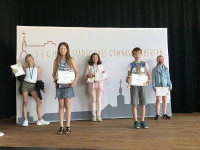Städtisches Gymnasium Herten  Unsere 5 Besten dieses Jahr sind alle aus Klasse 5. CONGRATS!
