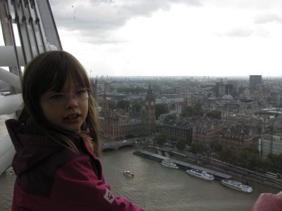Five years ago on the London Eye - had a great time there. At this time, I was visiting my godfather and his family for some days together with my parents and my little sister. Now learning even more English in RATINGEN at the KOPERNIKUS-GYMNASIUM.