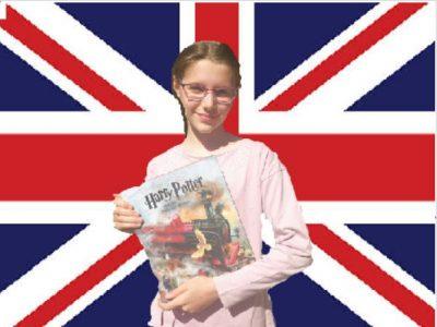 Krefeld Gymnasium Fabritianum  J.K.Rowling - berühmte englische Autorin. Die Kinder nähern sich England an durch J.K.Rowling und Harry Potter.                                                                                                                                                             Ilinca Manole