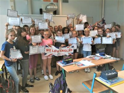 NIEDERSORBISCHES GYMNASIUM COTTBUS  Class 5A entered the contest for the very first time and had a lot of fun.