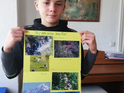 """Aschersleben, Gymnasium Stephaneum  Plakat im Englischunterricht zu meiner Wanderung auf dem """"Inka Trail"""""""