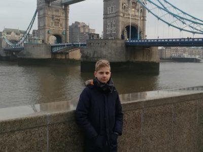 Justas Maselis 7b /Bitburg/  Otto-Hahn-Realschule plus Bitburg. Ein Bild von Tower Bridge wenn ich hatte Urlaub mit meine Familie.