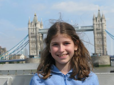 Jestetten Realschule Jestetten Sarah Raif  Comment: My family and I visited London in 2016. On the picture you can see me in front of the Tower Bridge.