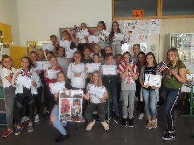 Die Klasse 6b vom Evangelischen Firstwald-Gymnasium in Mössingen
