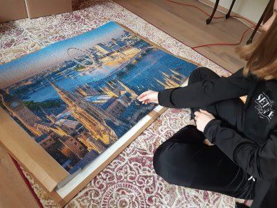 Reinbek, Gemeinschaftsschule Mühlenredder  Kommentar: Dieses London-Puzzle mit 2000 Teilen macht Lust auf eine Reise in die Stadt