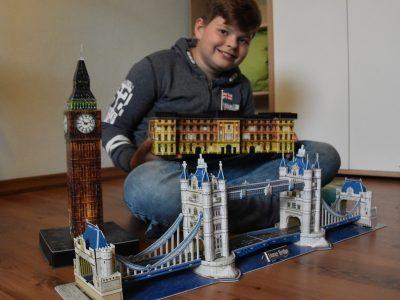 LÜTZOW, Regionalschule mit Grundschule  Mit meinen 3D-Puzzeln um die Welt (London) - Maximilian´s 3D-Puzzle-World (London)