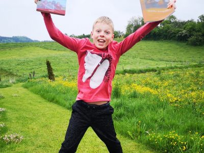 "Noah Jörger, Dollinger Realschule, Bili-Klasse 5F, Biberach  Jump for ""Big Challenge"" - English is fun!"