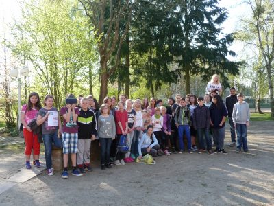 Die Teilnehmer der Regionalen Schule in Rechlin