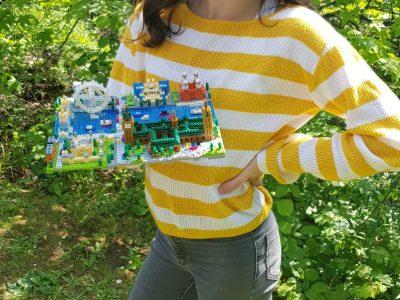 """Würzburg, Siebold-Gymnasium """"Da durch Corona unser London-Urlaub leider ausfällt, habe ich mir London aus Miniatur-Lego für Zuhause gebaut."""""""