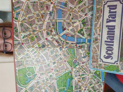 Leonberg   JKG    Stadtkarte von London von dem Spiel Scotland  Yard