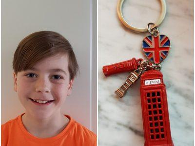 Stadtgymnasiumporz 5e: Malte Ich habe eine Telefonzellenanhenger gewählt, da es eins von vielen Markenzeichen von London ist.
