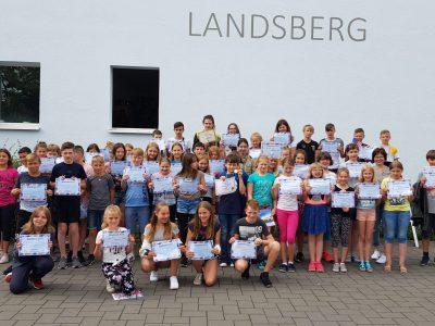 Alle Teilnehmer der Sekundarschule An der Doppelkapelle Landsberg