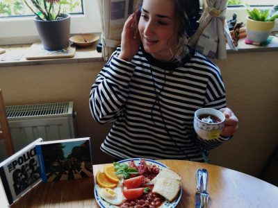 Quedlinurg, GutsMuthsGymnasium  English breakfast and english music- what a nice combination!