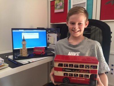 """Falkensee, A. Diesterweg GS """" Big Ben und rote Londonbusse sind meine Leidenschaft"""" Tobias Gora, Klasse 5b"""