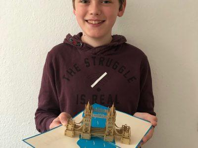 Die Karte der Tower Bridge habe ich zu meinem Geburtstag bekommen.  Planegg, Feodor-Lynen-Gymnasium