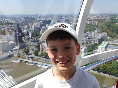 Freigericht, Kopernikusschule, Bild aus dem London Eye in Richtung Big Ben