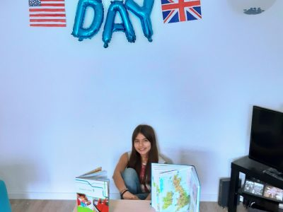 Hamburg, Gymnasium Dörpsweg, (Valentina Duarte), There's nothing better than having a happy day in New York or London.