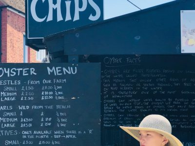 """Bonn, Otto-Kühne-Schule   """"Fish and chips"""" during a day on the beach in Whitstable, UK, summer 2019"""