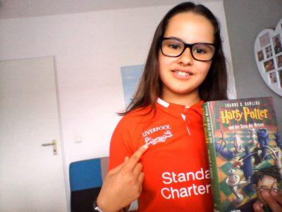 46145 Oberhausen, Sophie - Scholl - Gymnasium,   Ich liebe England, Jürgen Klopp und Liverpool sind die Besten, Harry Potter ist immer wieder toll, ob als Buch oder Film. Liebe Grüße Eure Maya Amari