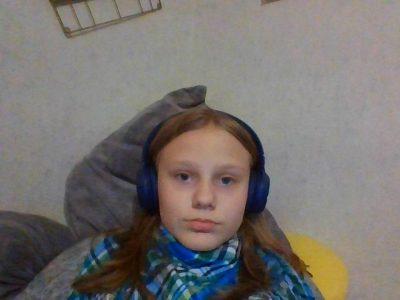 Rahden , Carolin Johanna Waltke , Gymnasium Rahden  auf diesem bild  höre ich grade englische Musik